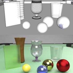 Objects modeling for materials' study